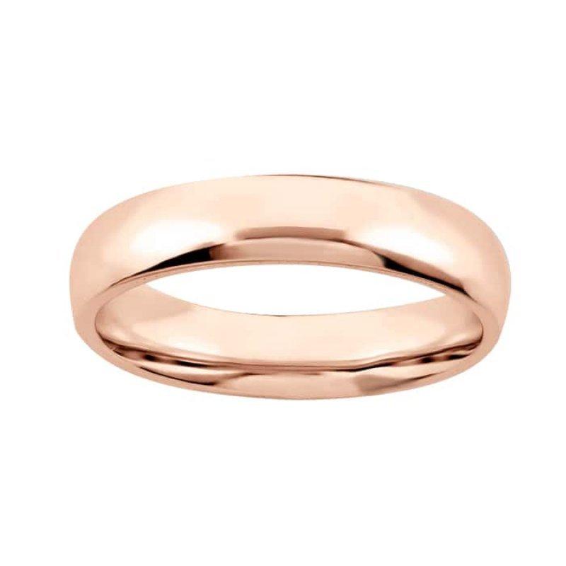 Argolla de Matrimonio de Oro Rosa de 14k de 3 mm