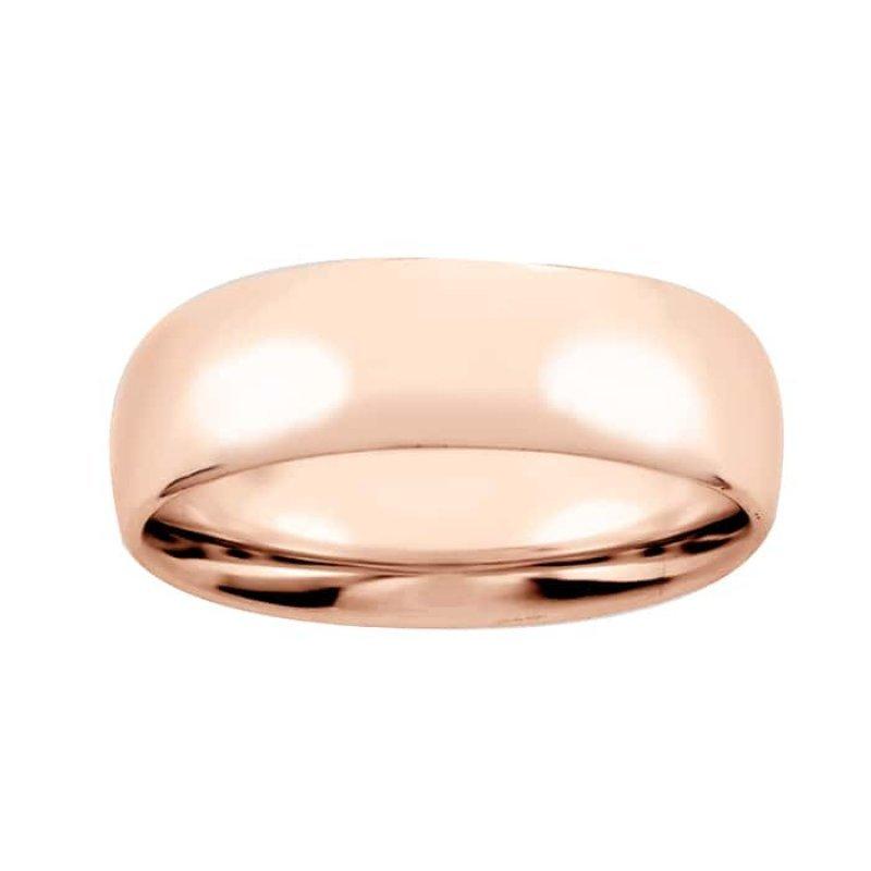 Argolla de Matrimonio de Oro rosa de 14k de 5 mm