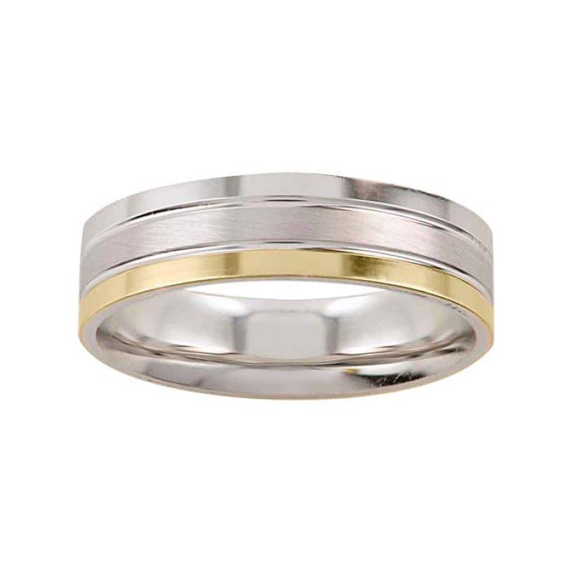 Argolla de Matrimonio de Oro Blanco de 14k de 5 mm