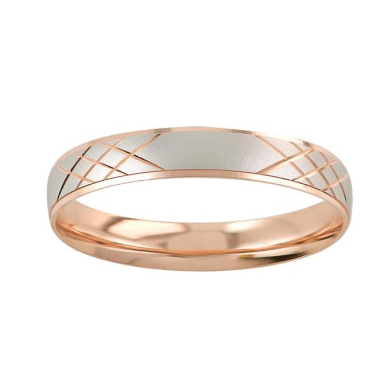 Argolla de Matrimonio de Oro Rosa de 14k de 4 mm