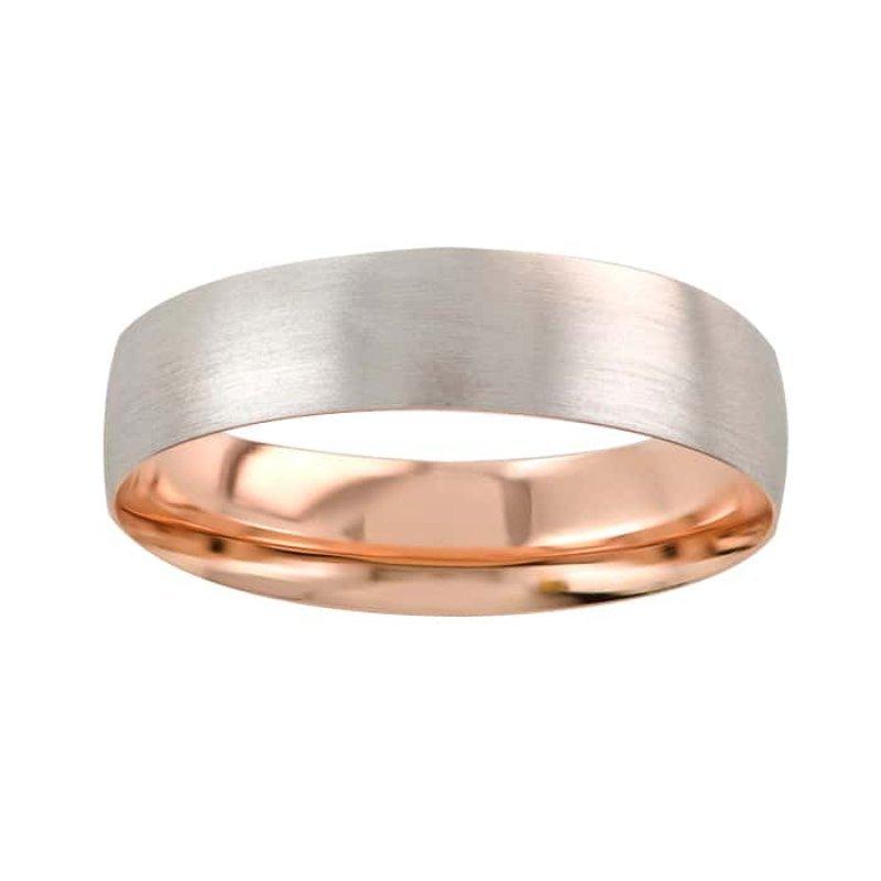 Argolla de Matrimonio de Oro Rosa de 14k de 6 mm