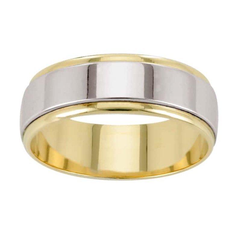 Argolla de Matrimonio de Oro Amarillo de 14k de 6 mm