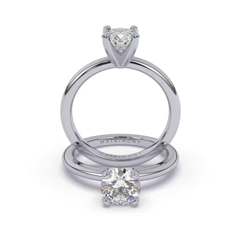 Disfruta de la belleza de la simplicidad y elegancia atemporal con este anillo de compromiso en solitario. La piedra principal se encuentra elegantemente sostenida por un engaste clásico de 4 uñas. Sofisticado y refinado, este anillo de compromiso se encuentra disponible en oro de 9k, 14k, 18k y platino.