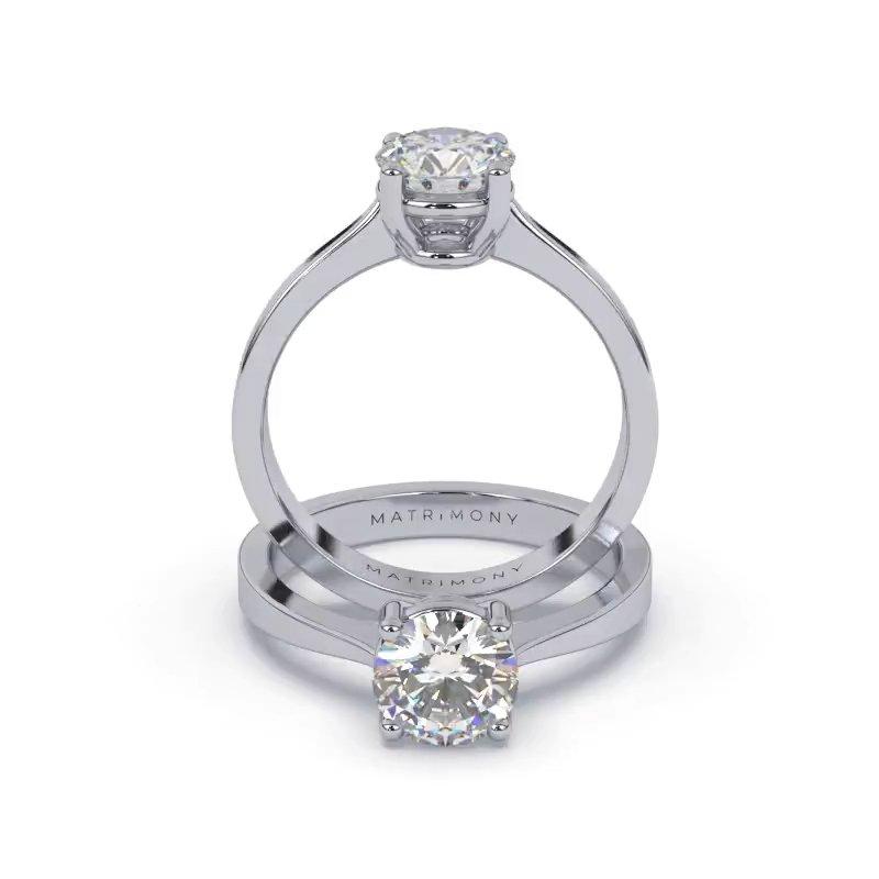 Elegir por una versión clásica de anillo de compromiso, siempre será una  buena opción. Este anillo de compromiso con 4 uñas ayuda a resaltar la belleza y elegancia del diamante redondo. Este modelo se encuentra disponible con piedras de zirconia o diamante y en oro de 9k, 14k, 18k ó platino.