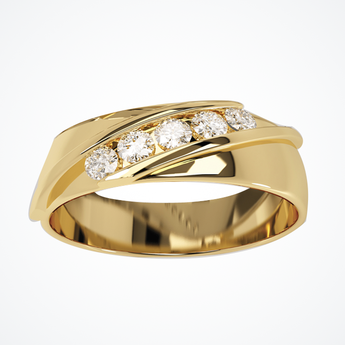 Argolla de Matrimonio de Oro Amarillo de 14k de 7 mm