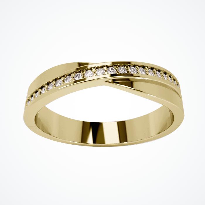 Argolla de Matrimonio de Oro Amarillo de 14k de 4 mm