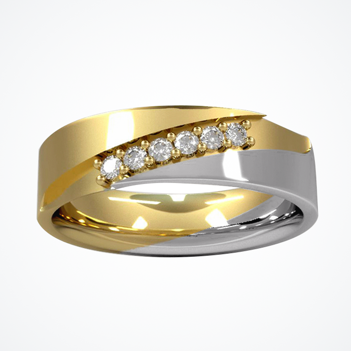 Argolla de Matrimonio de Oro Amarillo de 14k de 5 mm