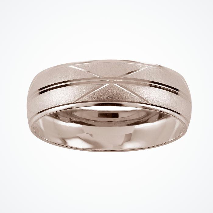 Argolla de Matrimonio de Oro Blanco de 10k de 6 mm